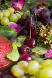 Composition from vegetables and fruit Stock Image
