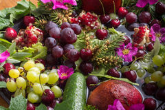 Composition from vegetables and fruit Royalty Free Stock Image