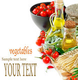Composition with vegetables and spices Stock Image