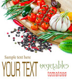 Composition with vegetables and spices Stock Photography