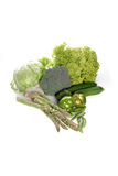 Composition of vegetables on white background Royalty Free Stock Photos