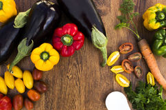 Composition with vegetables  Royalty Free Stock Photos
