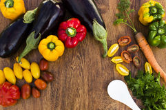 Composition with vegetables  Stock Images