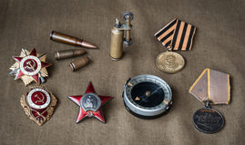 Composition of Victory Day. 1945 Royalty Free Stock Photography
