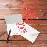 Composition vide en carte de valentine Photos stock