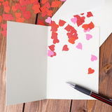 Composition vide en carte de valentine Photo stock