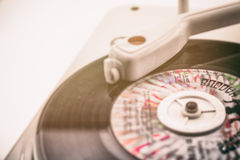 Composition with vintage record player and record Royalty Free Stock Images