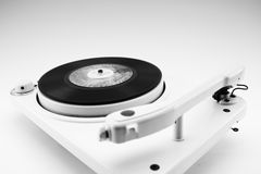 Composition with vintage record player and record Royalty Free Stock Photography