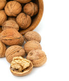Composition of walnuts in a bowl Stock Images