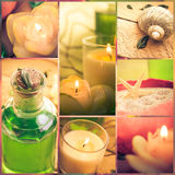 Composition Wellness collage floral water bath salt spa series Royalty Free Stock Image