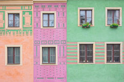 Composition of windows. Simple composition of windows with different patterns on the wall Stock Image