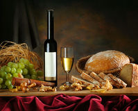 Composition with wine stock image