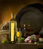 Composition with wine Royalty Free Stock Photo