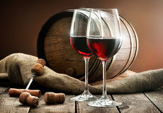 Composition with wine Stock Photo