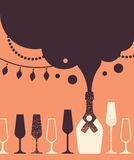 Composition with wine and glasses. Royalty Free Stock Photo