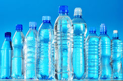 Free Composition With Assorted Plastic Bottles Of Mineral Water Stock Photos - 48894733