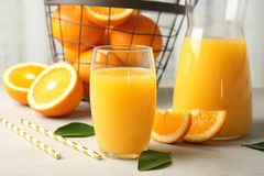 Free Composition With Orange Juice And Fresh Fruit Royalty Free Stock Photo - 141308095