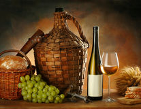 Composition With Wine Stock Photos