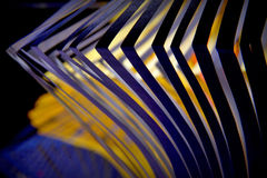 Composition with yellow and blue Royalty Free Stock Image