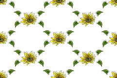 The composition of yellow sunflower. For your design Stock Photos