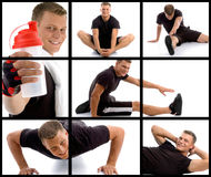 Composition of young sportive man royalty free stock photo