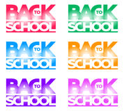 Compositional Inscription Back to school in the form of a logo Royalty Free Stock Photos
