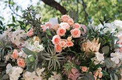 Compositions élégantes en fleur des fleurs fraîches Images stock