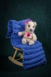 Compositions artistiques avec les animaux tricotés Photos libres de droits