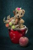 Compositions artistiques avec les animaux tricotés Images libres de droits