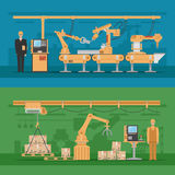 Compositions automatisées en Assemblée illustration de vecteur