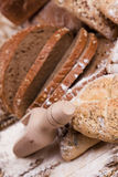 Compositions bread Stock Photos