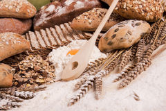 Compositions bread Stock Photography
