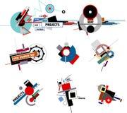 Compositions de constructivisme illustration stock