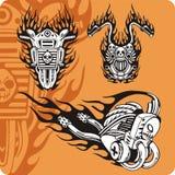 Compositions de moto - positionnement 17 illustration stock