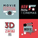 Compositions en cinéma avec le texte photographie stock libre de droits