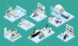 Compositions en docteur And Patient Isometric illustration libre de droits