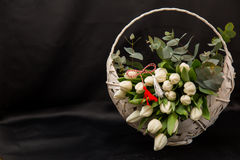 Compositions florales en ressort Photos stock