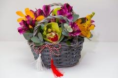 Compositions florales en ressort Image libre de droits