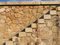 Compositions of granite. Old wall and granite buildings Royalty Free Stock Photos