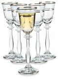 Compositon dei bicchieri di vino fotografie stock
