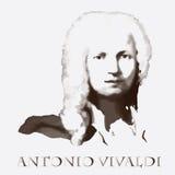 Compositor Antonio Vivaldi Retrato del vector Imagenes de archivo