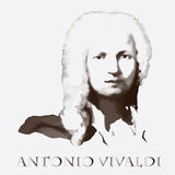 Compositor Antonio Vivaldi Retrato do vetor Imagens de Stock