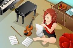 Compositor com seu violino Foto de Stock