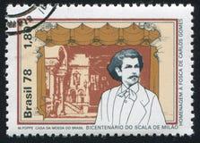 Compositor da fase e do Carlos Gomes Brazilian do La Scala fotos de stock royalty free