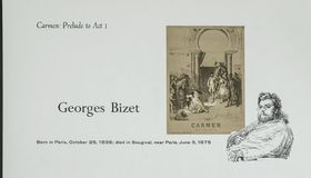 Compositor francês Georges Bizet fotos de stock