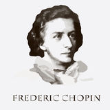 Compositor Frederic Chopin Retrato do vetor Imagem de Stock