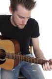 Compositor joven del cantante Imágenes de archivo libres de regalías