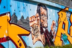 Compositor Richard Wagner Bayreuth dos grafittis fotografia de stock royalty free