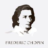 Compositore Chopin Ritratto di vettore Fotografia Stock Libera da Diritti