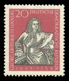 Compositores y músicos, Georg Friedrich Handel imágenes de archivo libres de regalías